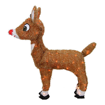 """Northlight 26"""" Pre-Lit Rudolph the Red-Nosed Reindeer Christmas Yard Decor"""