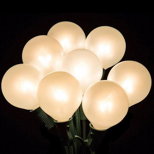 20 Light Opaque Globe Indoor / Outdoor Christmas Lights