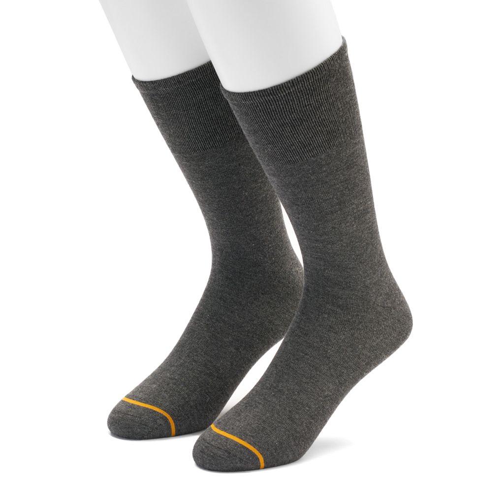 Men's GOLDTOE 2-pack Non-Binding Rayon from Bamboo Crew Socks