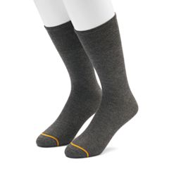 Men's GOLDTOE 2-pack Non-Binding Rayon from Bamboo Crew Socks