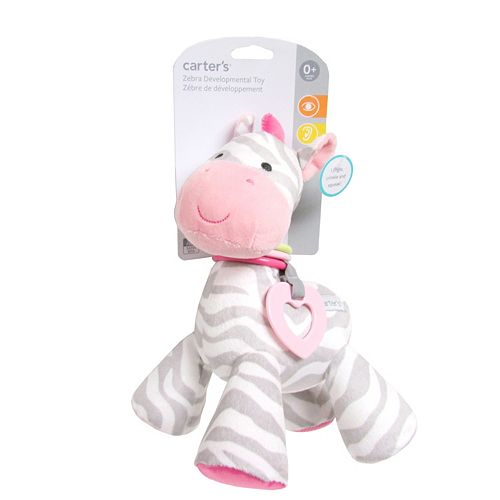 Baby Carter's Zebra Plush Activity Toy