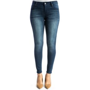 Juniors' Crave Whiskered Ankle Skinny Jeans