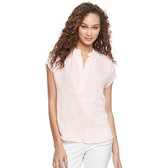 Womens Pink Blouses Tops, Clothing | Kohl's