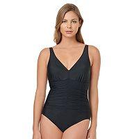 Women's Croft & Barrow® Body Sculptor Control Shirred One-Piece Swimsuit