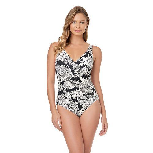 f8feded16b7 Women's Croft & Barrow® Body Sculptor Control Shirred One-Piece Swimsuit