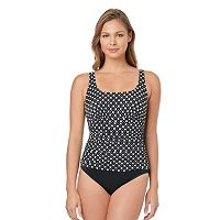 Women's Croft & Barrow® Body Sculptor Control Ruched One-Piece Swimsuit