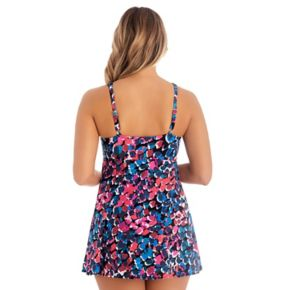 Women's Croft & Barrow® Tummy Slimmer Bow-Front Swimdress