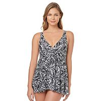 Women's Croft & Barrow® Tummy Slimmer Printed Swimdress