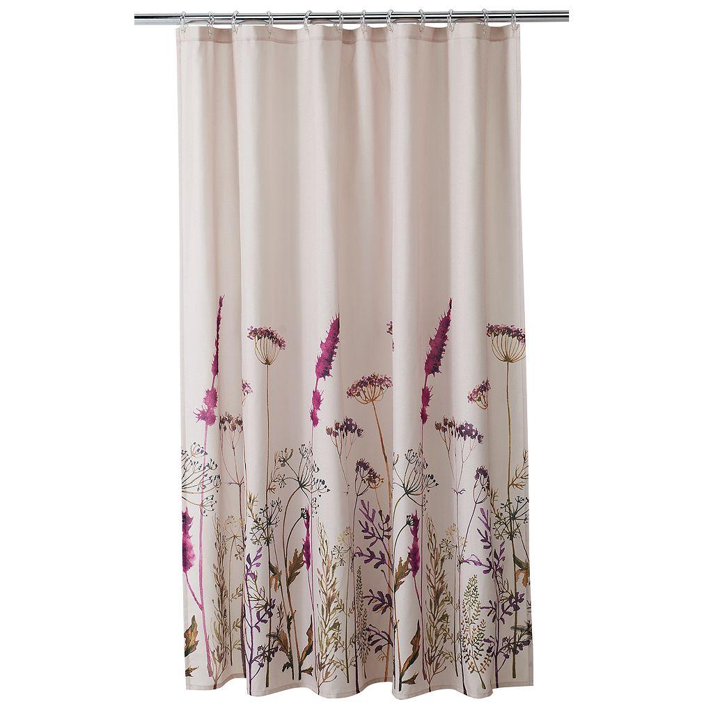 Home Classics® Botanical Floral Print Shower Curtain