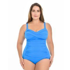 Plus Size Croft & Barrow® Body Sculptor Control One-Piece Swimsuit