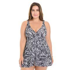 Plus Size Croft & Barrow® Tummy Slimmer Swimdress