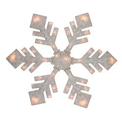 Northlight 40' Pre-Lit Winter White Snowflake Christmas Yard Decor