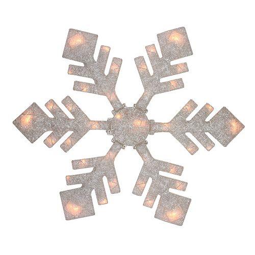"Northlight 40"" Pre-Lit Winter White Snowflake Christmas Yard Decor"
