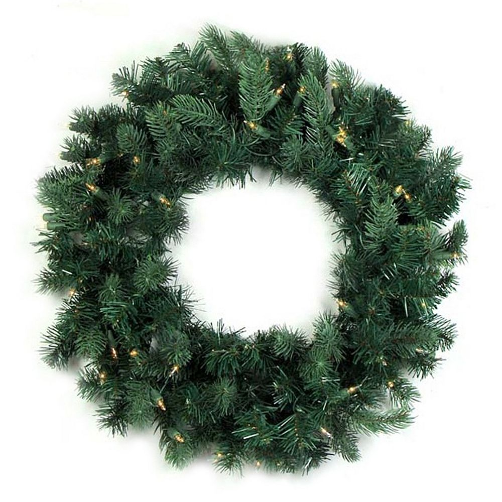 Prelit Christmas Wreath.36 In Pre Lit Artificial Washington Frasier Fir Indoor Christmas Wreath