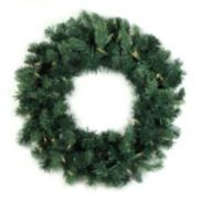 36-in. Pre-Lit Artificial Washington Frasier Fir Indoor Christmas Wreath