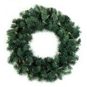 36 in Pre-Lit Artificial Washington Frasier Fir Indoor Christmas Wreath
