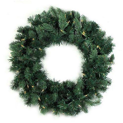 36-in. Pre-Lit Artificial Washington Frasier Fir Indoor Christmas Wreath