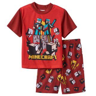 Boys 6-12 Minecraft 2-Piece Pajama Set