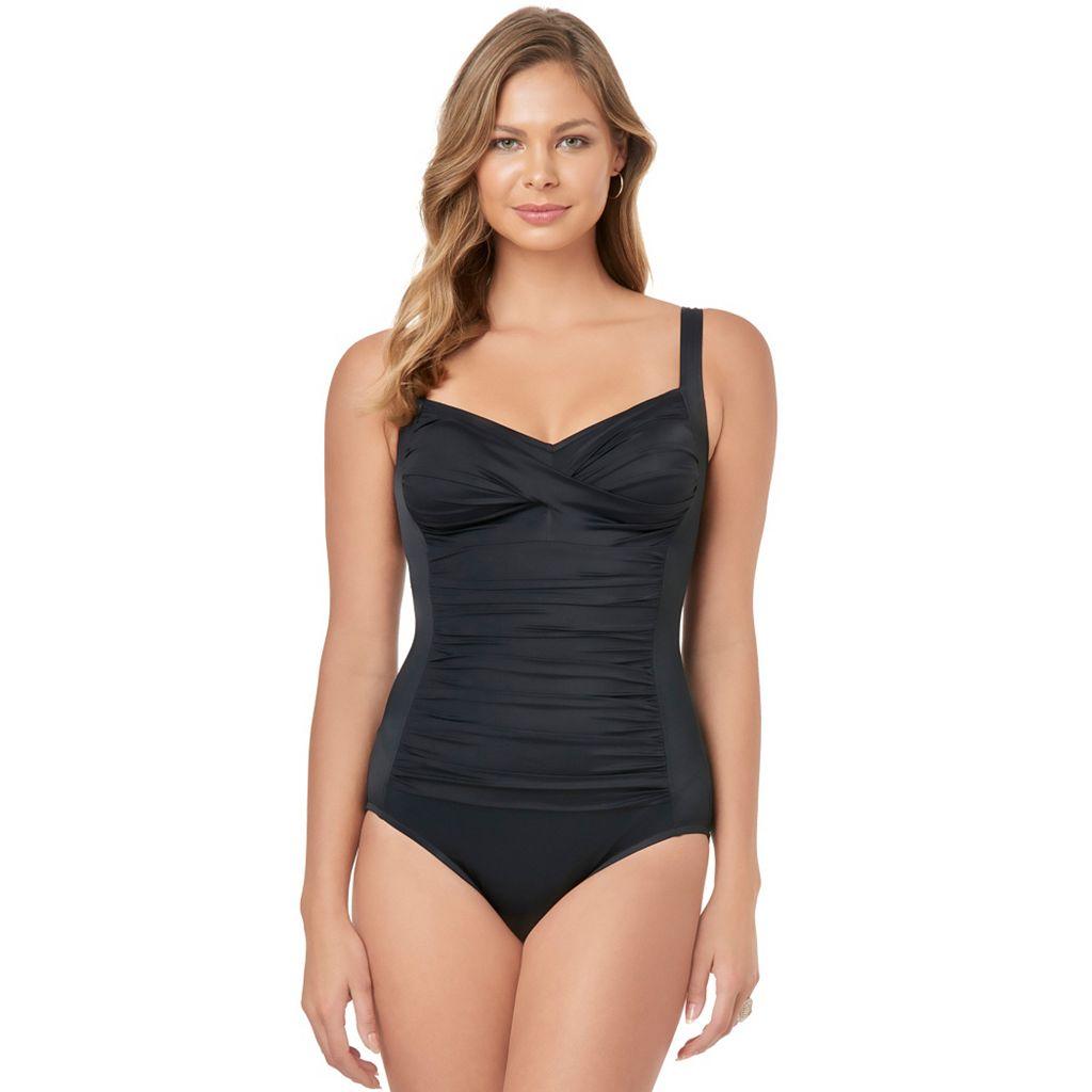 Women's Croft & Barrow® Body Sculptor Control One-Piece Swimsuit