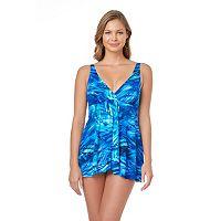 Women's Croft & Barrow® Tummy Slimmer Flyaway Swimdress