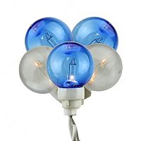 Northlight Blue and White Globe Icicle Christmas Lights