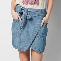 Women's SONOMA Goods for Life™ Chambray Faux-Wrap Skirt