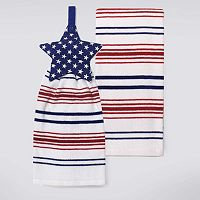 Celebrate Americana Together Star Button Top Kitchen Towel 2-pk.