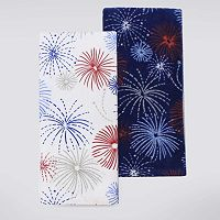 Celebrate Americana Together Fireworks Kitchen Towel 2-pk.