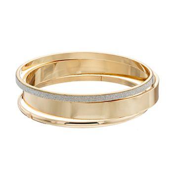 Glittery Bangle Bracelet Set