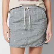 Women's SONOMA Goods for Life? Embroidered Linen Blend Skirt