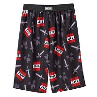 Boys 8-20 Minecraft Sleep Shorts