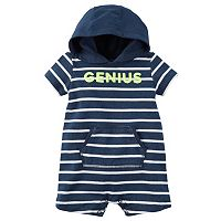 Baby Boy Carter's Striped Hooded Romper