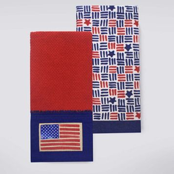 Celebrate Americana Together Flag Patch Kitchen Towel 2-pk.