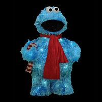 Sesame Street Cookie Monster 18 in Pre-Lit Outdoor Christmas Decor