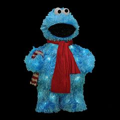 Sesame Street Cookie Monster 18-in. Pre-Lit Outdoor Christmas Decor