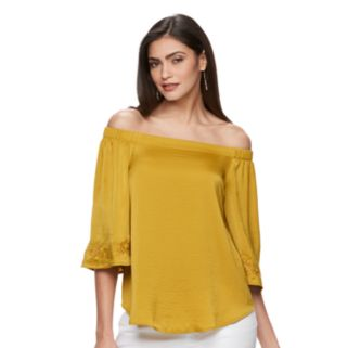 Women's Jennifer Lopez Embroidered Off-the-Shoulder Top