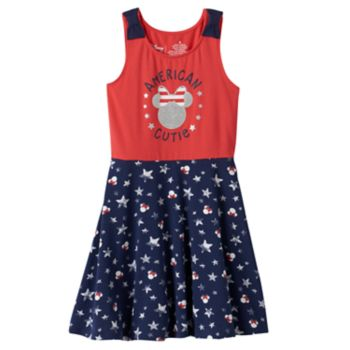 """Disney's Minnie Mouse Girls 4-10 """"American Cutie"""" Skater Dress by Jumping Beans®"""