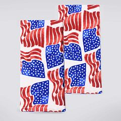 Celebrate Americana Together Flag Toss Kitchen Towel 2-pk.