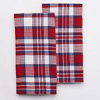 Celebrate Americana Together Plaid Kitchen Towel 2-pk.