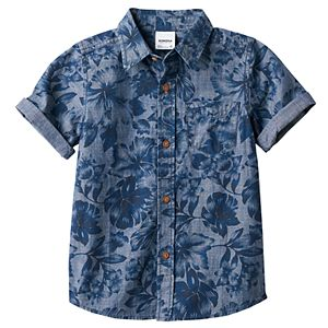 Boys 4-7x SONOMA Goods for Life™ Floral Chambray Shirt