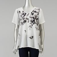 Women's Simply Vera Vera Wang Leaf Tee
