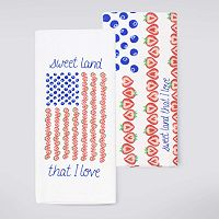 Celebrate Americana Together Fruit Flag Kitchen Towel 2-pk.
