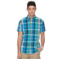 Men's Urban Pipeline® MaxFlex Madras Plaid Button-Down Shirt