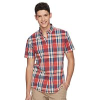 Men's Urban Pipeline® MaxFlex Madras Plaid Button-Down Shirt