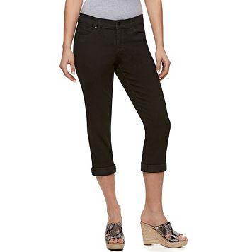 Petite Jennifer Lopez Roll Cuff Capri Jeans