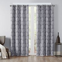 Madison Park Barto Damask Printed Curtain