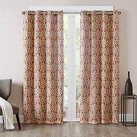 Madison Park Barto Damask Printed Window Curtain