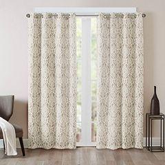 Madison Park Barto Damask Printed Window Curtain