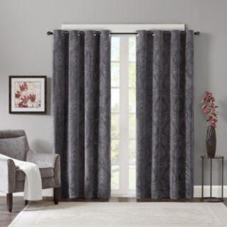Madison Park Cecil Velvet Window Curtain Set