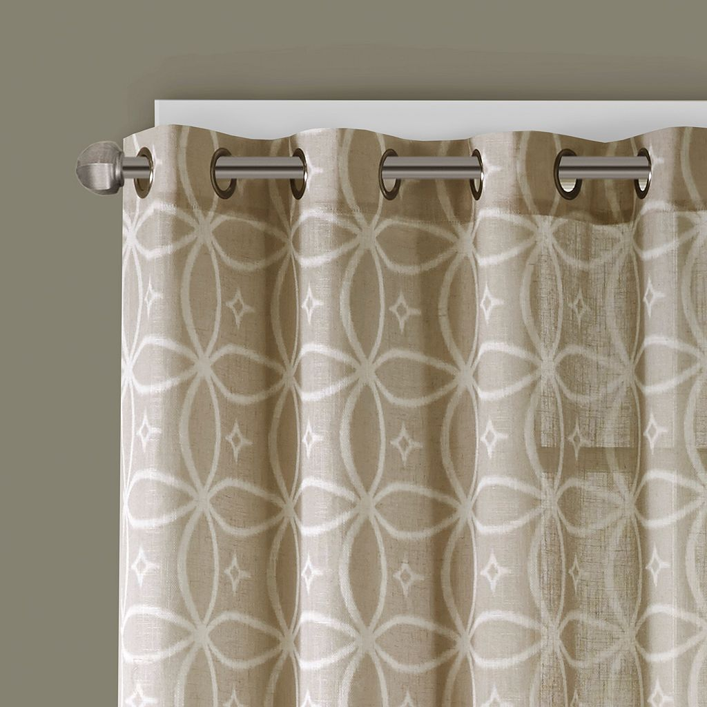 Madison Park Zafar Fret Printed Window Curtain